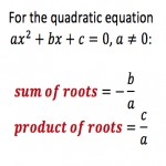 Sum and Product of Quadratic Roots